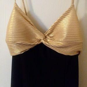 NWOT Vintage Gold & Black Dress
